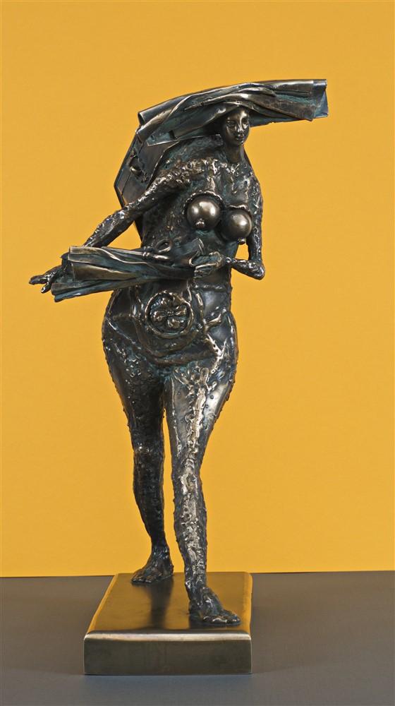 besacteaua cu ganduri bronz  21x45x30 cm 1