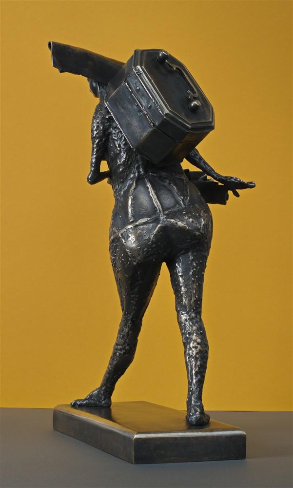 besacteaua cu ganduri bronz  21x45x30 cm 2