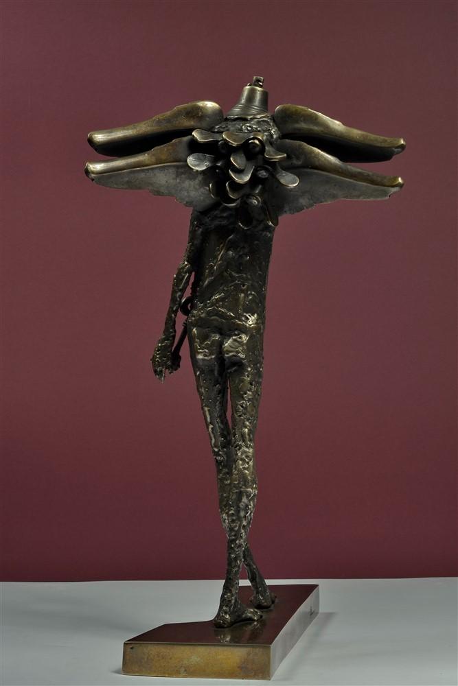 paznicul usii  II bronz 54x28x 32 cm