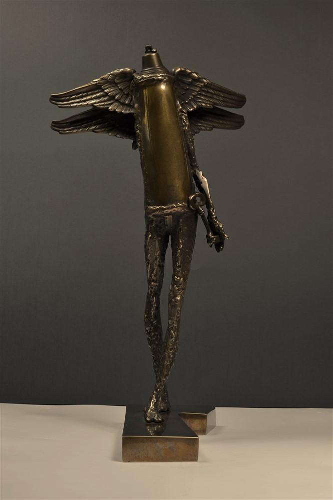 paznicul usii  II bronz 54x28x 32 cmm