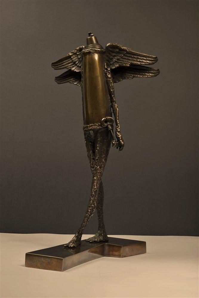 paznicul usii  II bronz 54x28x 32 cmmm